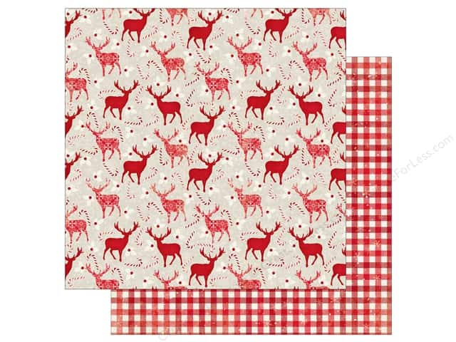 Bo Bunny 12 x 12 in. Paper Merry & Bright Reindeer Games (25 sheets)