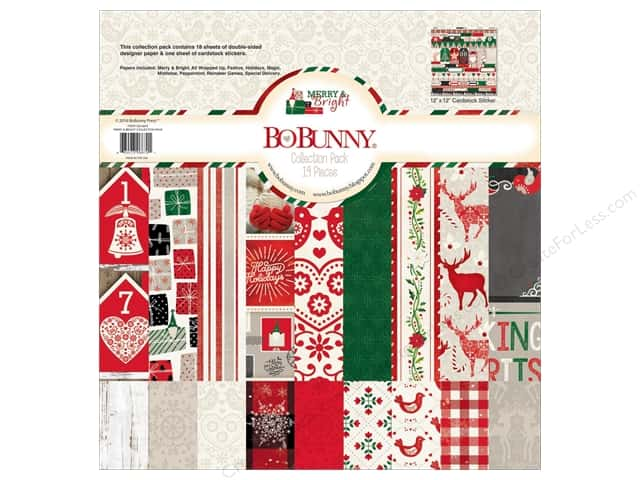 Bo Bunny 12 x 12 in. Collection Pack Merry & Bright