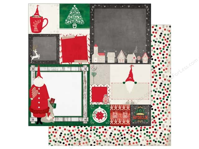 Bo Bunny 12 x 12 in. Paper Merry & Bright Father Christmas (25 sheets)