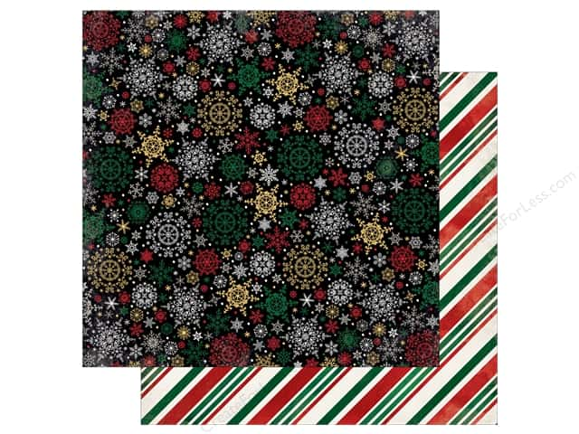 Bo Bunny 12 x 12 in. Paper Merry & Bright Blizzard (25 sheets)