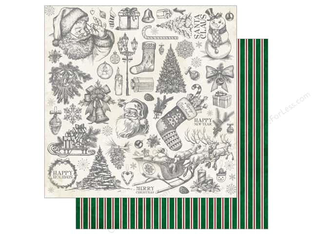 Bo Bunny 12 x 12 in. Paper Tis The Season Nostalgia (25 sheets)