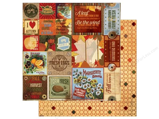 Bo Bunny 12 x 12 in. Paper Farmers Market Thankful (25 sheets)