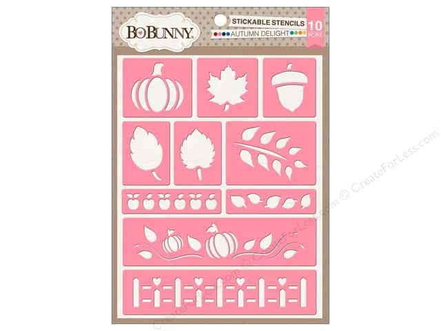 Bo Bunny Stickable Stencils Autumn Delight