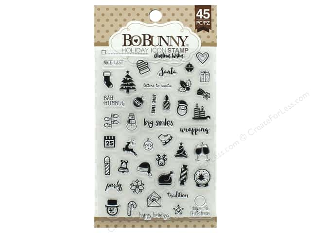 Bo Bunny Clear Stamps Holiday Icon