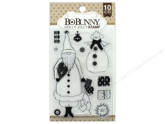Bo Bunny Clear Stamps Holly Jolly