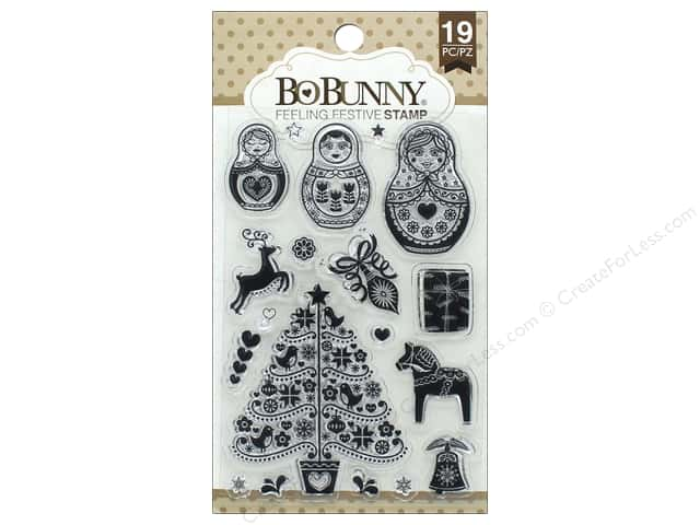 Bo Bunny Clear Stamps Feeling Festive
