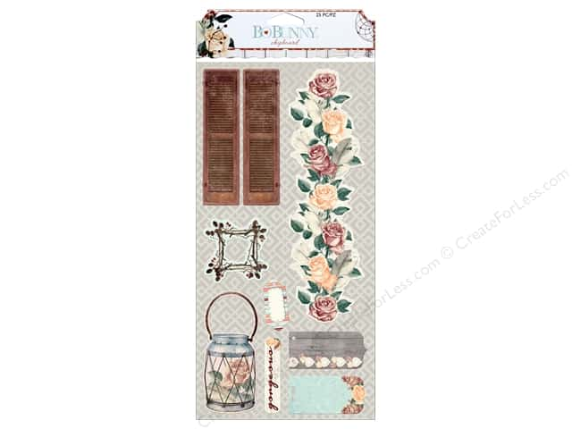 Bo Bunny Chipboard Bella Rosa