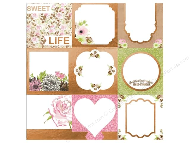 Bo Bunny 12 x 12 in. Paper Sweet Moments Foil Vellum (12 sheets)