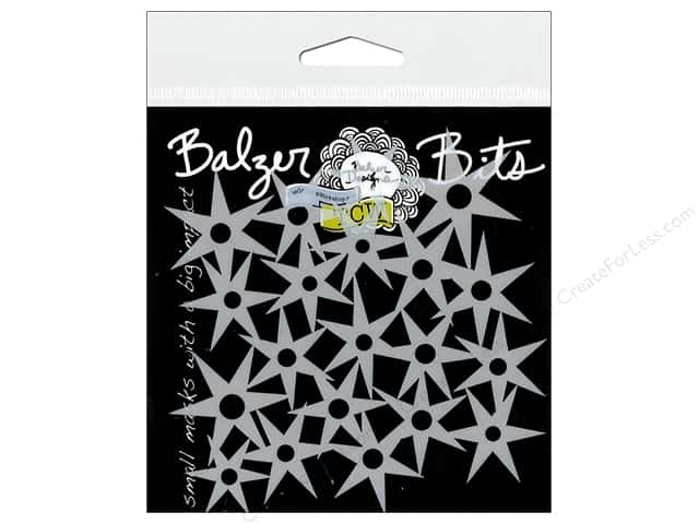The Crafter's Workshop Stencil Balzer Bits Star Circle