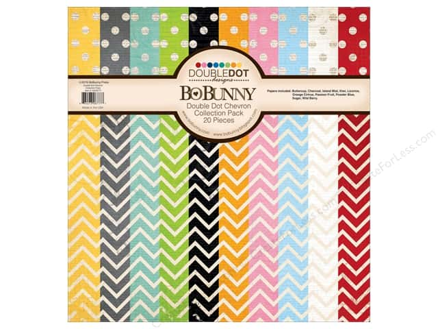 Bo Bunny 12 x 12 in. Collection Pack Double Dot Chevron