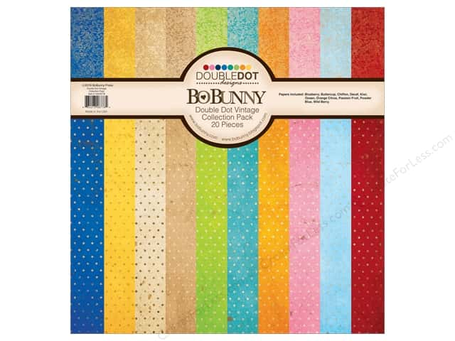 Bo Bunny 12 x 12 in. Collection Pack Double Dot Vintage