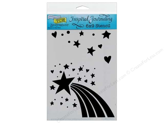The Crafter's Workshop Template 6 x 9 in. Zenspirations Rainbow Star
