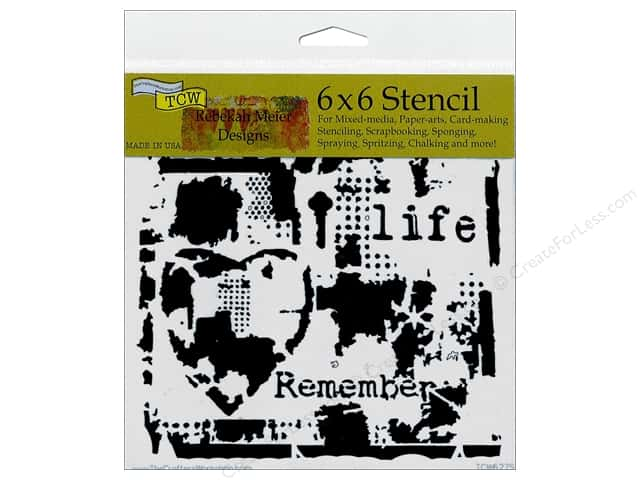 The Crafter's Workshop Template 6 x 6 in. Rebekah Meier Life Remembered