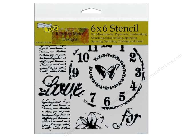 The Crafter's Workshop Template 6 x 6 in. Rebekah Meier Designs Time For Love