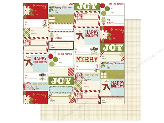 """Simple Stories Collection Classic Christmas Paper 12""""x 12"""" Holiday Wishes (25 pieces)"""