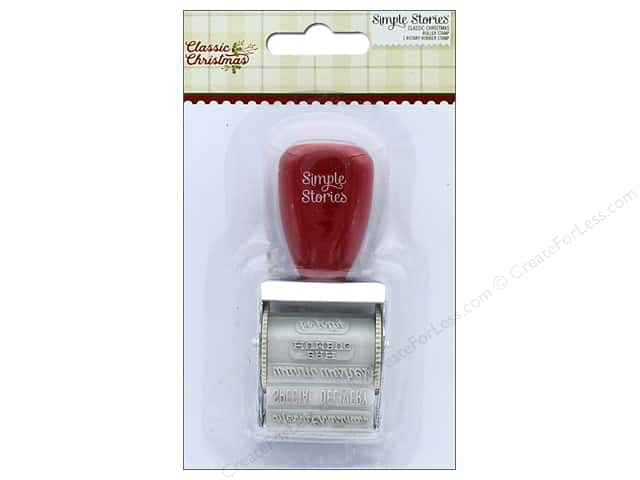 Simple Stories Collection Classic Christmas Roller Stamp (3 pieces)