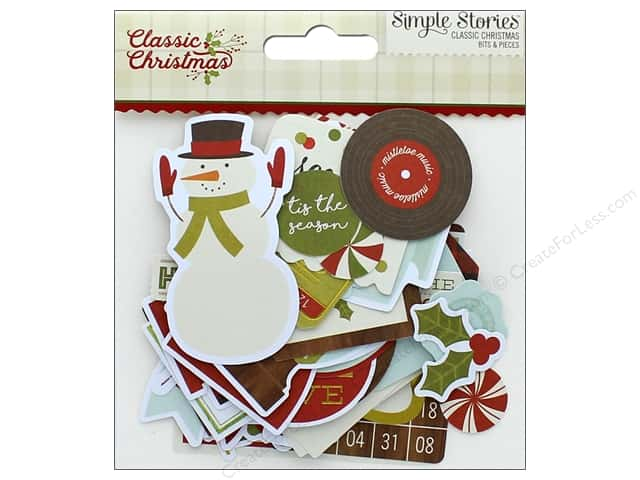 Simple Stories Collection Classic Christmas Bits & Pieces (3 sets)