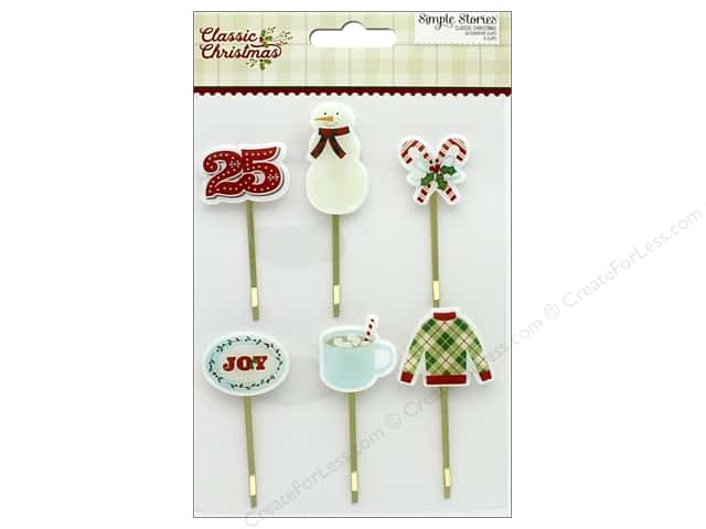 Simple Stories Collection Classic Christmas Decorative Clips (3 sets)
