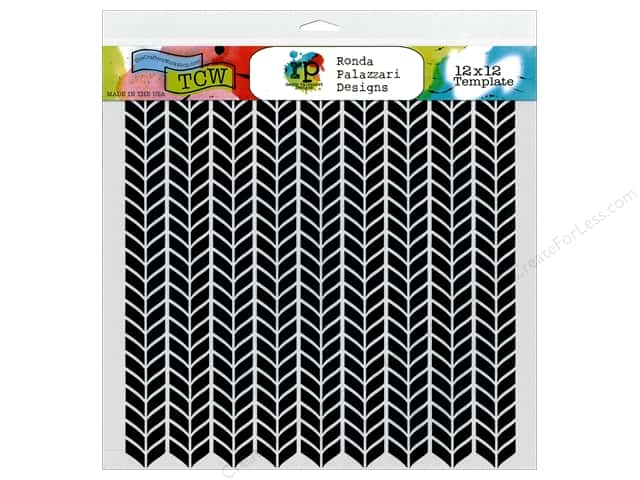 The Crafter's Workshop Template 12 x 12 in. Ronda Palazzari Designs Stockinette