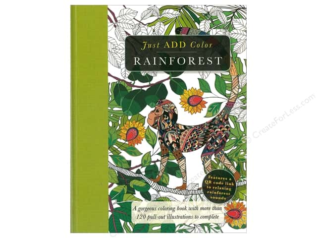 Barron's Just Add Color Rainforest Coloring Book