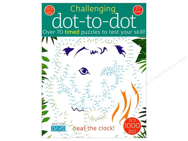 Barron's Challenging Dot To Dot Coloring Book