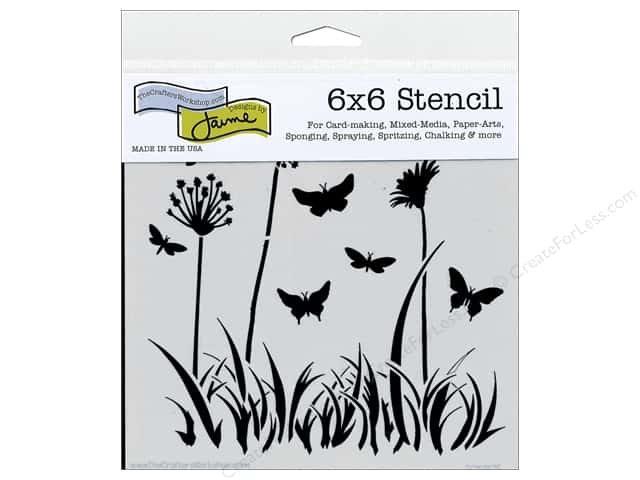 The Crafter's Workshop Template 6 x 6 in. Butterfly Meadow