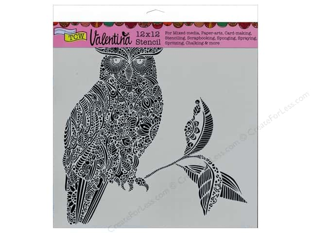 The Crafter's Workshop Template 12 x 12 in. Valentina Wise Owl
