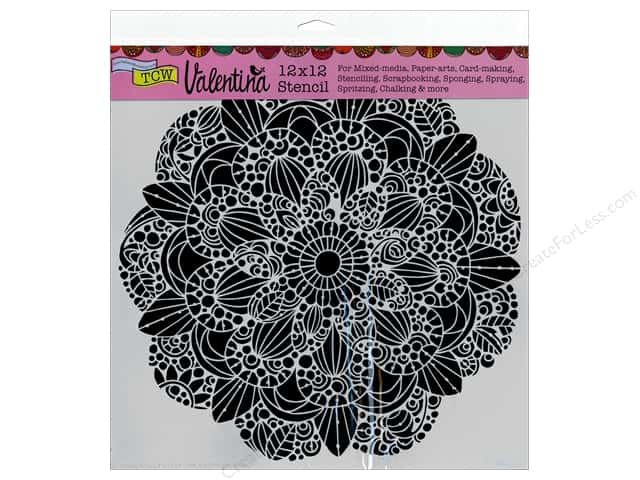 The Crafter's Workshop Template 12 x 12 in. Valentina Sweet Posey