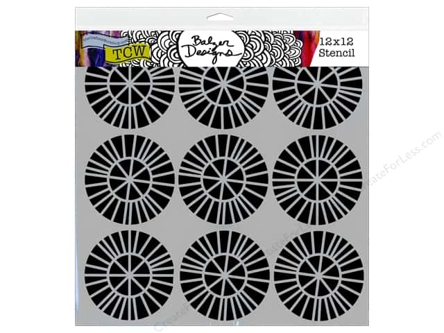 The Crafter's Workshop Template 12 x 12 in. Balzer Designs Spikey Wheels
