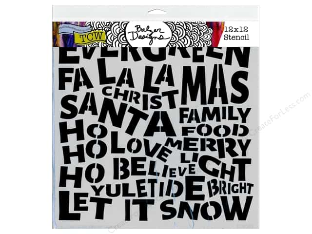 The Crafter's Workshop Template 12 x 12 in. Balzer Designs Christmas Words