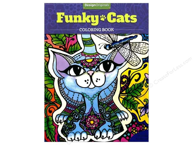 Design Originals Funky Cats Coloring Book