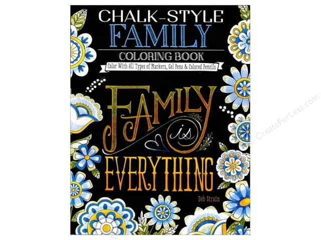 Design Originals Chalk-Style Family Coloring Book