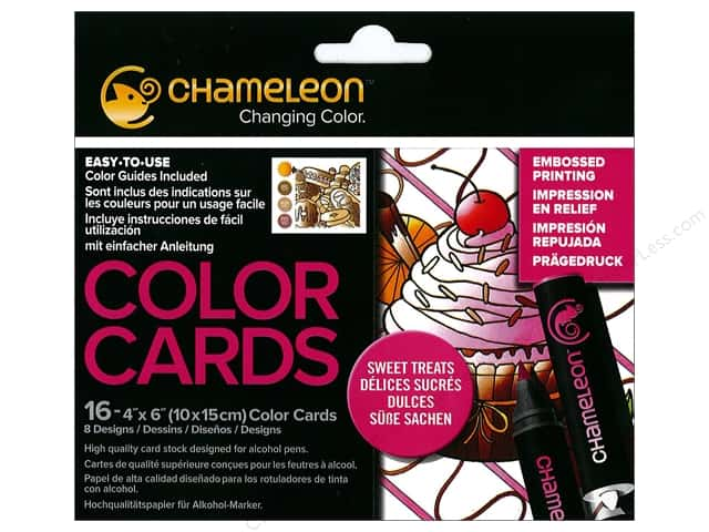Chameleon Color Cards 4 x 6 in. Treats 16 pc.