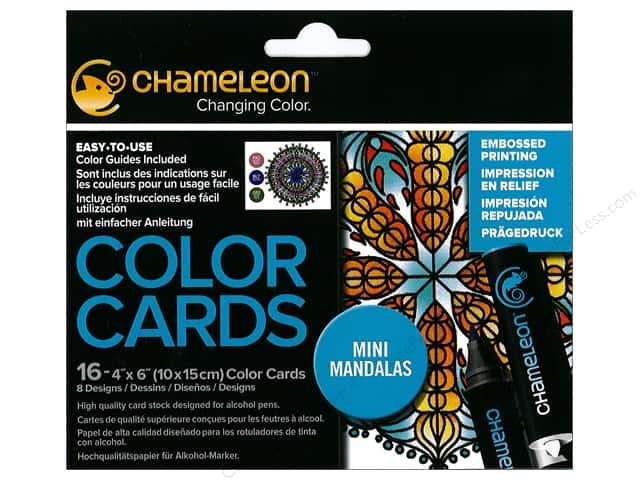 Chameleon Color Cards 4 x 6 in. Mandala 16 pc.