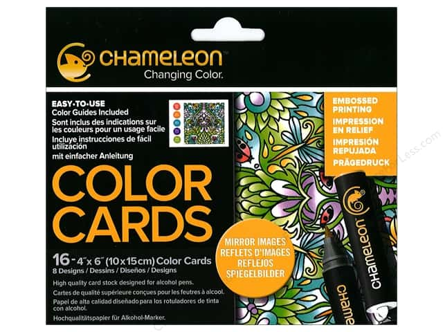 Chameleon Color Cards 4 x 6 in. Reflections 16 pc.