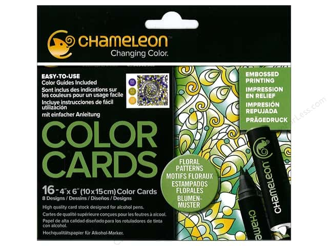 Chameleon Color Cards 4 x 6 in. Patterns 16 pc.