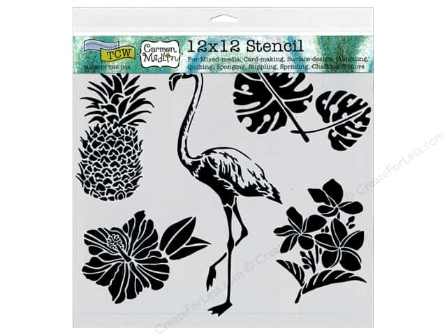 The Crafter's Workshop Template 12 x 12 in. Tropical Elements