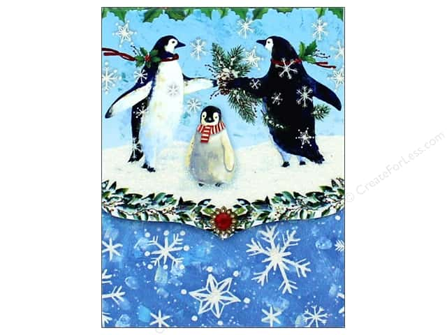 Punch Studio Note Pad Pocket Snowy Penguins (2 pads)