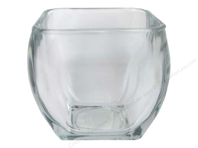 "Crisa by Libbey Glass Votive Holder Square Tapered 3.8"" (12 pieces)"