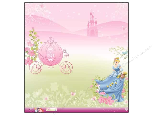 EK 12 x 12 in. Paper Disney Princess Cinderella Glitter (12 sheets)