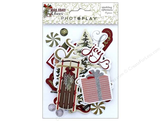 Photo Play Collection Holiday Cheer Sparkling Ephemera