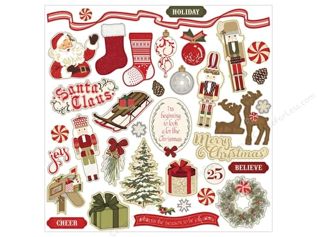 "Photo Play Collection Holiday Cheer Sticker 12""x 12"" Elements (12 sets)"