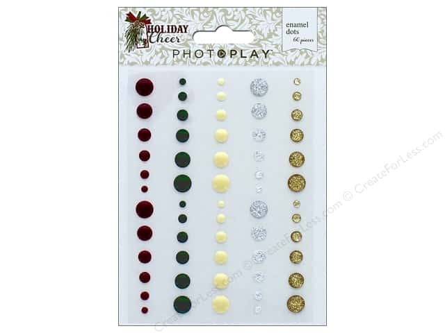 Photo Play Collection Holiday Cheer Enamel Dots