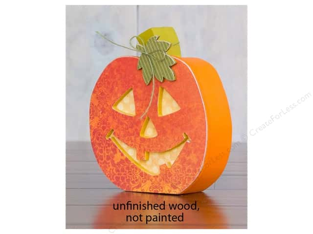 Foundations Decor Wood Shape Shape Home Jack-O-Lantern
