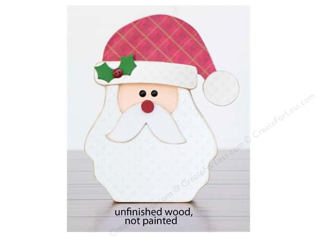 Foundations Decor Wood Shape Shape Home Santa Face