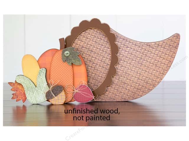 Foundations Decor Wood Shape Shape Cornucopia