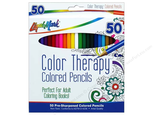 Liquimark Colored Pencil Set Color Therapy 50pc