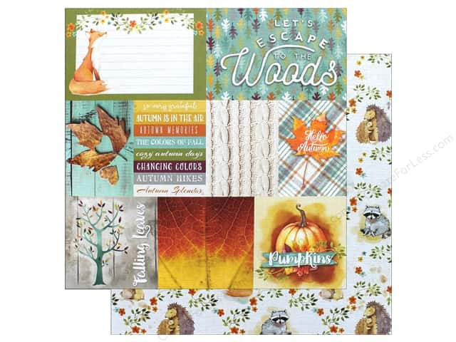 "Paper House Collection Autumn Woods Paper 12""x 12"" Woodland Friends (15 sheets)"