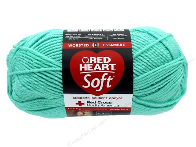 Red Heart Soft Yarn #4620 Minty 256 yd.