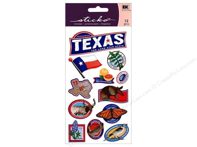 EK Sticko Stickers Texas